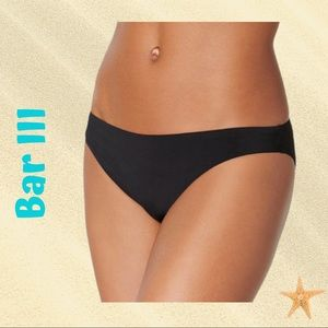 Bar III  Cheeky Hipster Black Bikini Bottoms